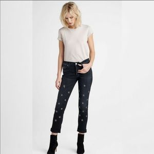 Hudson Riley Crop Relaxed Straight Jeans Mythology